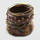 FULL TILT Feather and Wood Bangle Set