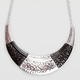 FULL TILT Metal Colorblock Choker Necklace