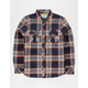 BOHNAM Ryedale Quilted Mens Flannel Shirt