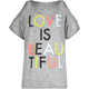 FULL TILT Love is Beautiful Girls Cold Shoulder Tee