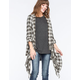 BILLABONG Live It Up Plaid Flannel Womens Wrap