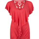 FULL TILT Flutter Sleeved Tiered Womens Top