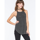 FULL TILT Essential Ribbed Hi Neck Womens Tank