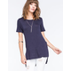 FULL TILT Essential High Slit Womens Tee