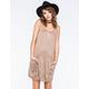 EYESHADOW Suede Pocket Swing Dress