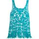 FULL TILT Crochet Fringe Womens Tank