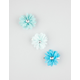 FULL TILT 3 Piece Chiffon Flower Hair Clips
