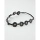 FULL TILT Faux Leather Flower Braid Headband
