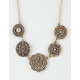 FULL TILT Filigree Disc Statement Necklace