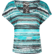 FULL TILT Abstract Stripe Lace Back Womens Top