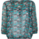FULL TILT Ethnic Print Womens Peasant Top