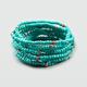 FULL TILT 9 Piece Turquoise Bead Bracelets
