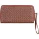 Woven Zip Around Wallet