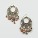 FULL TILT Filigree Hoop Wood Bead Earrings