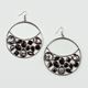 FULL TILT  Zebra Facet Stone Hoop Earrings