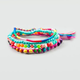 FULL TILT 4 Piece Rainbow Friendship Bracelets