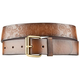 Floral Embossed Burn Edge Womens Belt