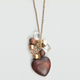 FULL TILT Wood Heart & Bead Charm Necklace