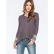 OTHERS FOLLOW Medley Knit Womens Top