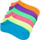 FULL TILT 6 Pack Slub Bright Womens Socks