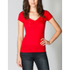 FULL TILT Essential Womens Deep V-Neck Tee