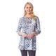 3/4 Sleeve Animal Print Tunic Top