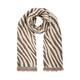 Zebra Print Jacquard Scarf