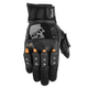 Black Brand Mirror Buster Motorcycle Gloves