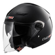 LS2 Track Solid Open Face Motorcycle Helmet with Sunshield