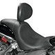Danny Gray Short Hop 2-Up XL Motorcycle Seat Optional Driver Backrest