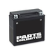 Parts Unlimited AGM Maintenance-Free Battery (YTX12-BS)