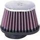 K&N Universal Oval Tapered Chrome Air Filters