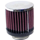 K&N Universal Round Straight Chrome Air Filters