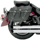 All American Rider Box-Style Slant Saddlebags with Rear Pocket