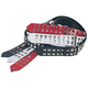 Levys 2In Studded Leather Punk Guitar Strap Red