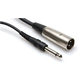 Hosa 3 Ft XLR (M) to 1/4-Inch Patch Cable