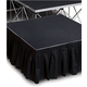 IntelliStage ISSK8X24 8 Ft x 24-Inch Black Stage Skirt