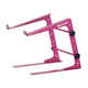 Odyssey LSTANDPINK Dj Laptop Stand W/Clamps (Pink)