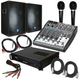 2000 Watt PA Package Speakers, Amp, Mixer & More +