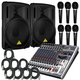 PA System With 15-In Powered Speakers & More     +