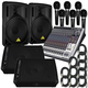 PA System With Powered Speakers & Monitors       +