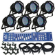ADJ American DJ 6 LED Par Can Stage Lighting Package with Controller