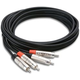 Hosa HRR-010X2 Pro 10 Ft Dual RCA (M) To Dual RCA (M) Cable