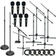 Premium Stage Stand Microphone And Cable Pack    +