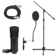 Economy Studio Microphone Stand And Cable Pack