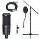 Professional Studio Mic Stand And Cable Package  +