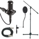 Premium Studio Microphone Stand And Cable Pack   +
