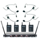 Vocopro UHF 4 Channel Wireless Headset Microphone