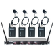 Vocopro UHF 4 Ch Wireless Lavalier Microphone