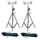 Pair Of ST-132 Stands (2) Adapters (2) Road Bags +